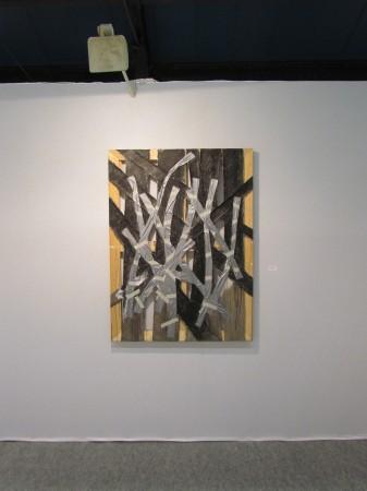 2  Composition avec ruban adhesif gris   acrylique   ruban adhesif et adhesif de masquage sur toile   Copyright W ANCHICO 2013