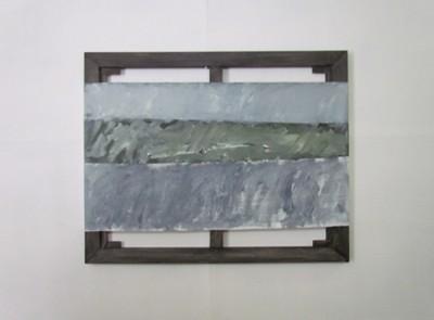 Mar verde  acrylique sur toile  65 x 81 cm.   W. ANCHICO Adagp  Paris 2015