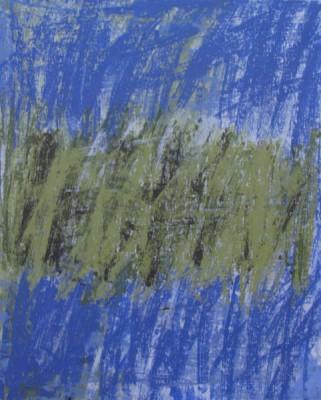 Paysage Vert et Bleu II   acrylique sur toile   81 x 65 cm   Anchico Adagp  Paris 2017