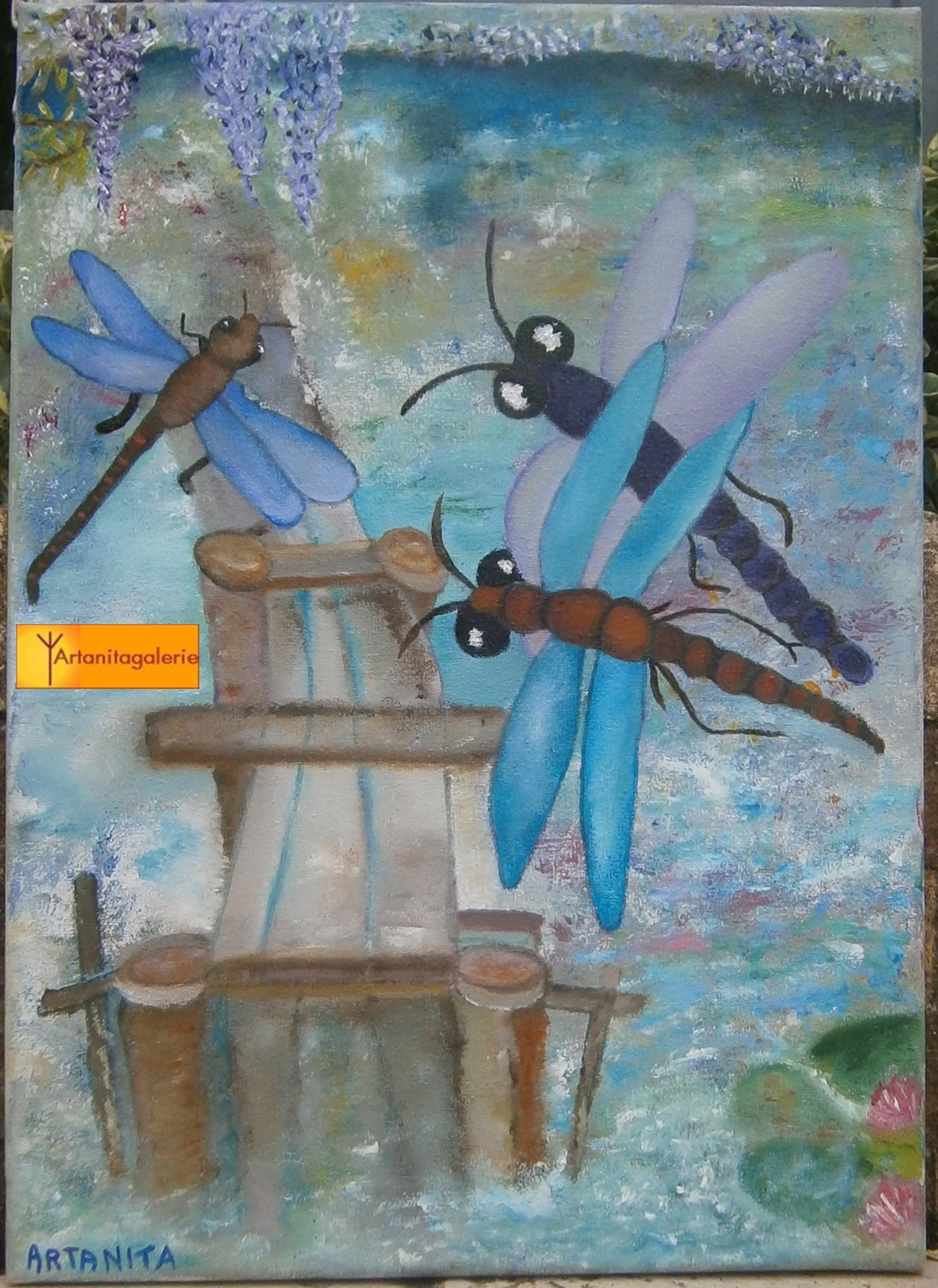 La danse des libellules 33x46