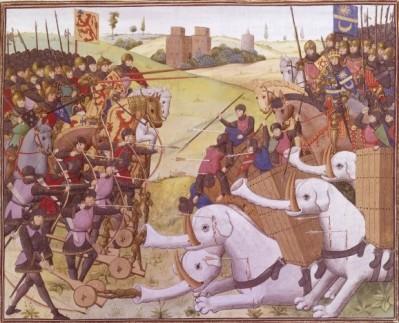 Bataille entre Alexandre et Poros