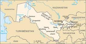 Carte Ouzbekistan