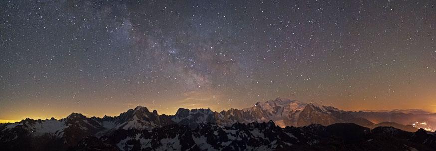 Mont Blanc depuis le Buet 2 ete nuit