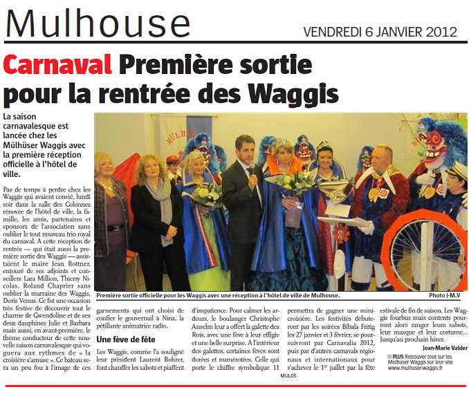 Article Alsace Reception 2012  les Waggis s  amusent