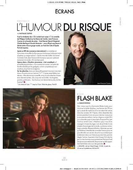 Photo Celine Bansart ELLE Jean Francois Cayrey 1