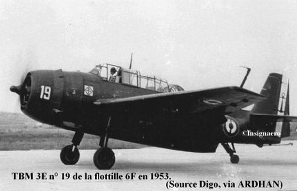 1953 un TBM 3E de la flottille 6F
