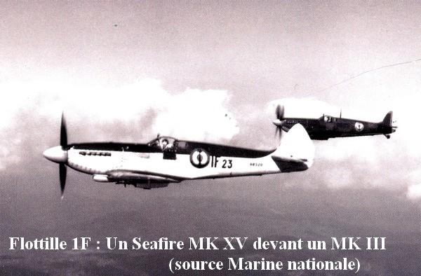1F Seafire XV devant un III