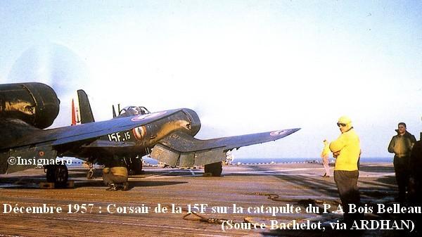 En decembre 57 Corsair de la 15F sur le Bois Belleau