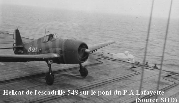 Hellcat de l escadrille 54S sur le Laf