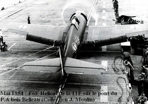 Hellcat de la 11F sur le Bois Belleau en 1954