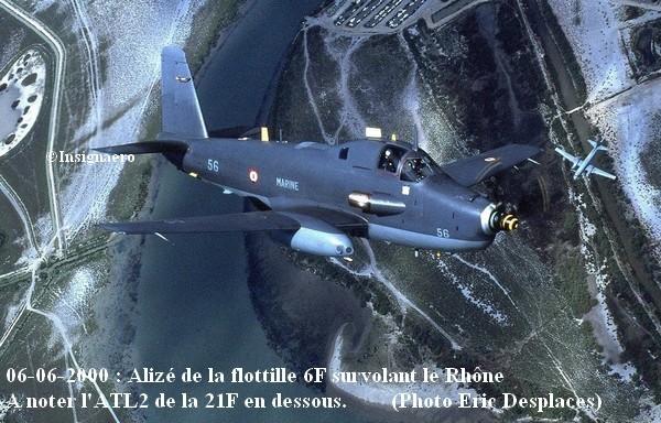 Juin 2000 Alize de la 6F au dessus du Rhone