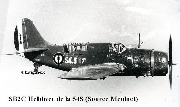 SBDC Helldiver de la 54S a Hyeres