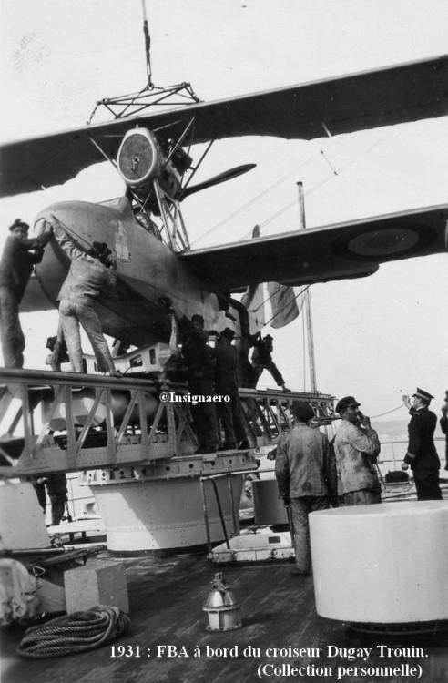 1931  FBA a bord du croiseur Dugay Trouin