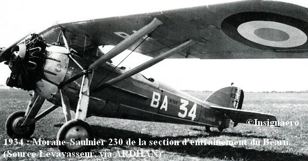 1934. Morane Saulnier 230 de la SEBA