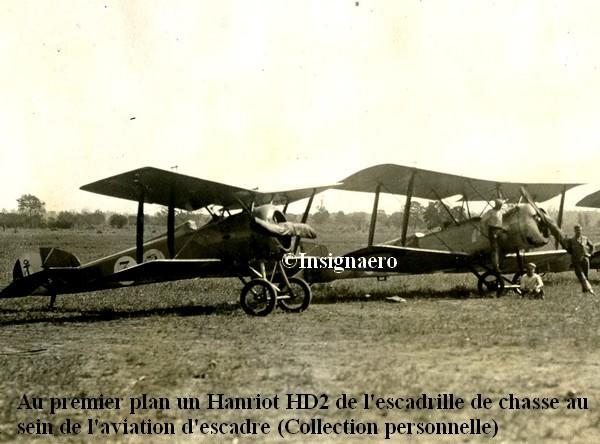 Hanriot HD2 de l escadrille de chasse dans l aviation d escadre