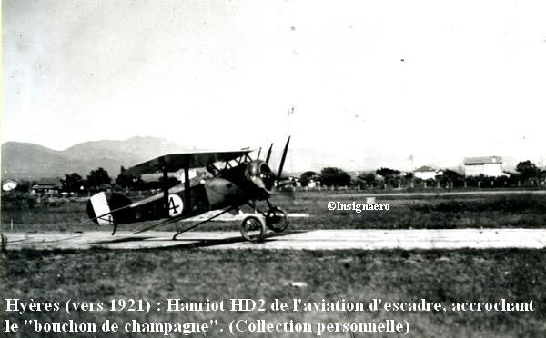 Hyeres 1921 Hanriot HD2 accrochant le bouchon