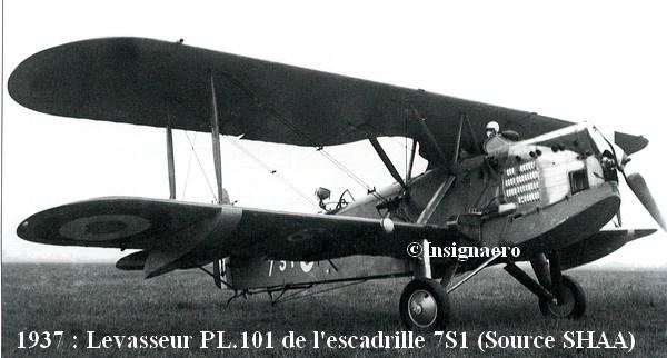 Levasseur PL.101 de l escadrille 7S1