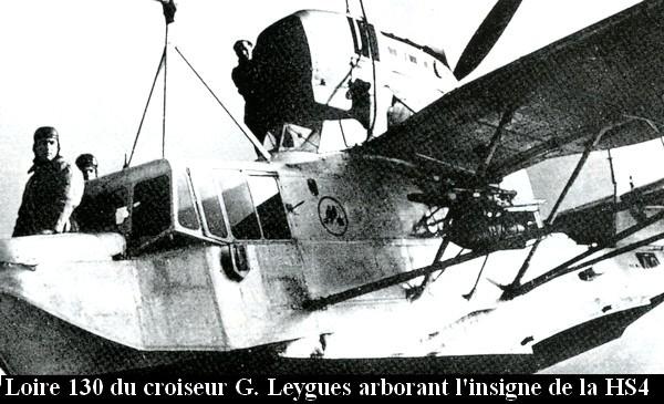 Loire 130 du croiseur Georges Leygues avec insigne de la HS4