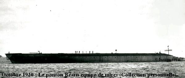 Octobre 1920  le ponton Bearn equipe de mires