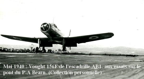 Vought 156F de l escadrille AB1