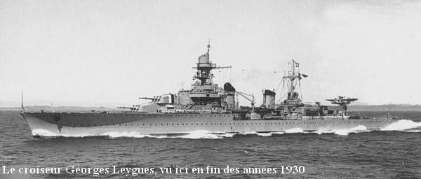 Croiseur Georges Leygues en fin des annees 30