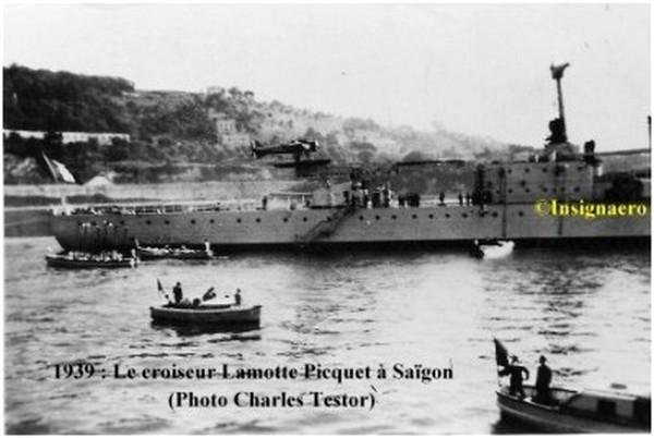 Le Lamotte Picquet a Saigon en 1939