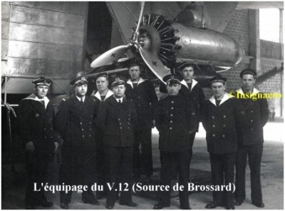 Photo de l equipage du ballon V.12
