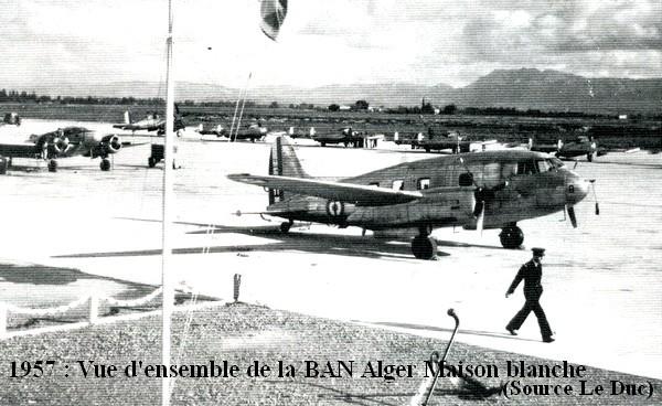 1957 vue d ensemble de la BAN Alger