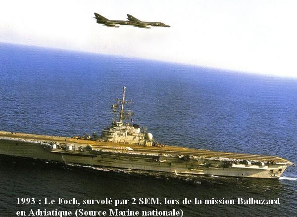 1993 le PA Foch dans la mission Balbuzard
