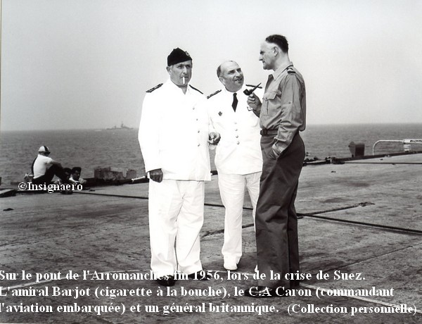 Fin 56 crise de Suez. Sur le pont de l Arro.
