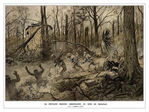 La bataille de Bois Belleau