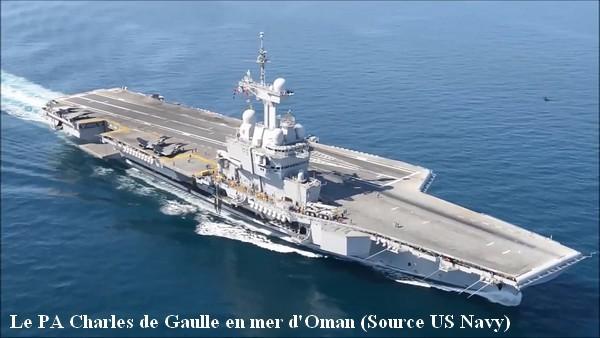 Le PA Charles de Gaulle en mer d Oman