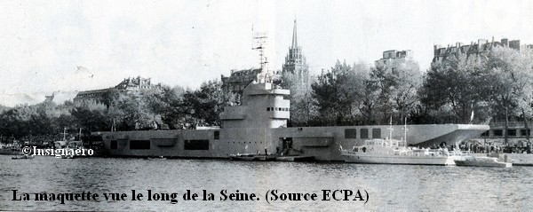 Maquette du V.de P. vue le long de la Seine