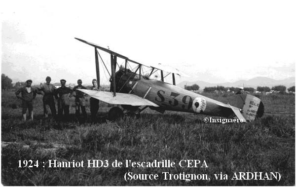 1924. Hanriot HD3 de l escadrille CEPA