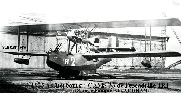1925 a Cherbourg. CAMS 33 de l escadrille 1R1