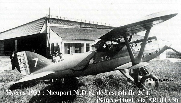 1933. Nieuport Delage 62 de l escadrille 3C1