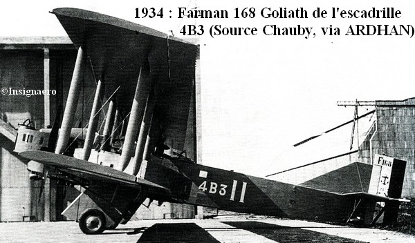 1934  Farman Goliath 168 de l escadrille 4B3