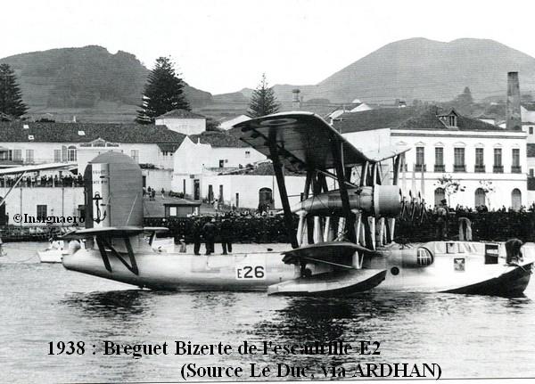 1938 aux Acores  Breguet Bizerte de l escadrille E2