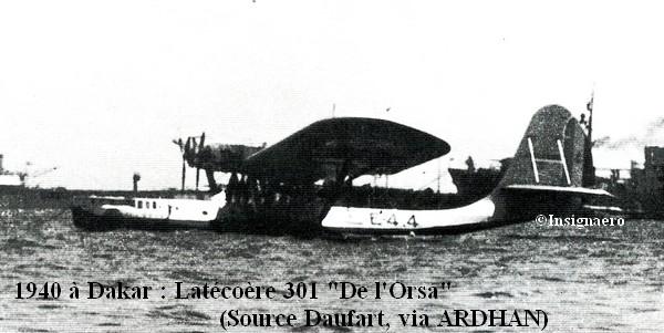 1940 a Dakar Latecoere 301 De L Orza de l escadrille E4
