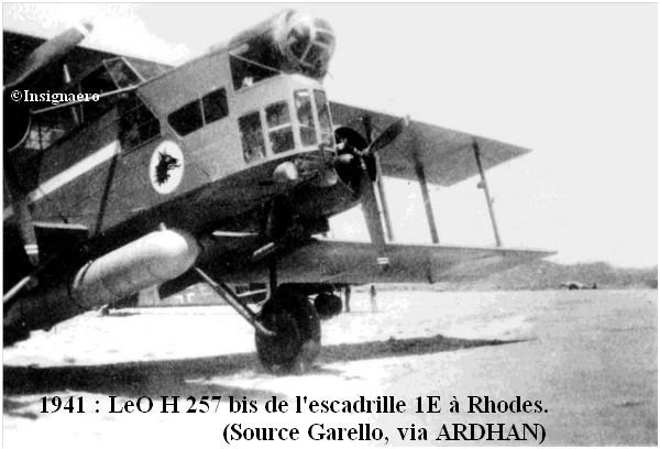 1941 LeO H 257 bis de l escadrille 1E
