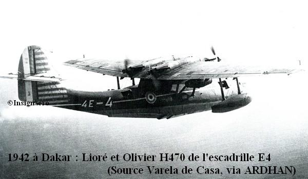 1942 a Dakar. LeO H470 de l escadrille E4