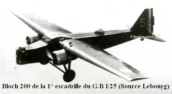 Bloch 200 de la 1ere escadrille du GB 1.25 de l AA