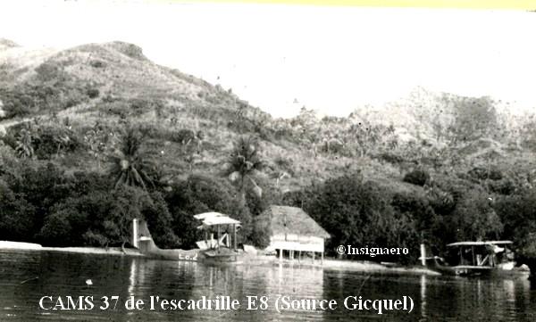 CAMS 37 de l escadrille E8 de Tahiti