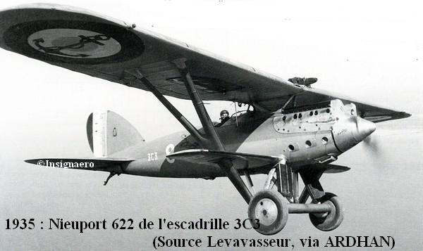 En 1935 Nieuport 622 de l escadrille 3C3