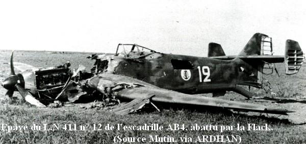Epave du LN 411 de l AB4