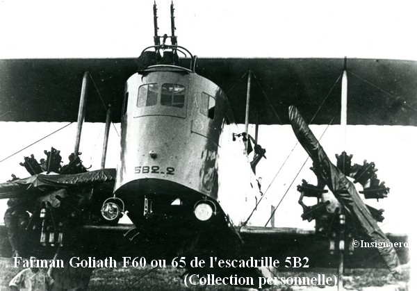 Farman Goliath F60 ou 65 de l escadrille 5B2