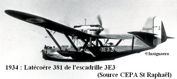 Latecoere 381 de l escadrille 3E3