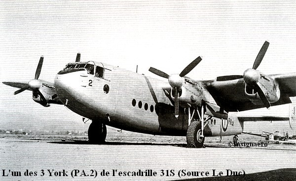 York de l escadrille 31S