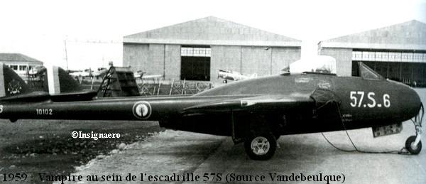 Vampire de la 57S en 1959