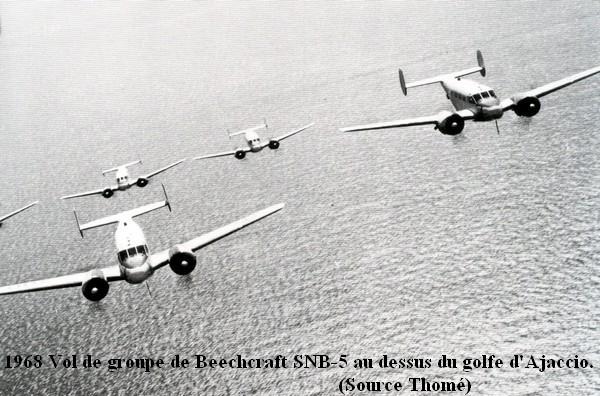 Vol de groupe de Beech a la 55S Aspretto